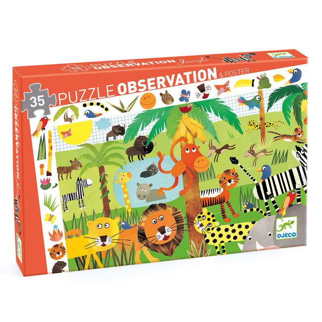 Djeco Observatiepuzzel Jungle | Djeco
