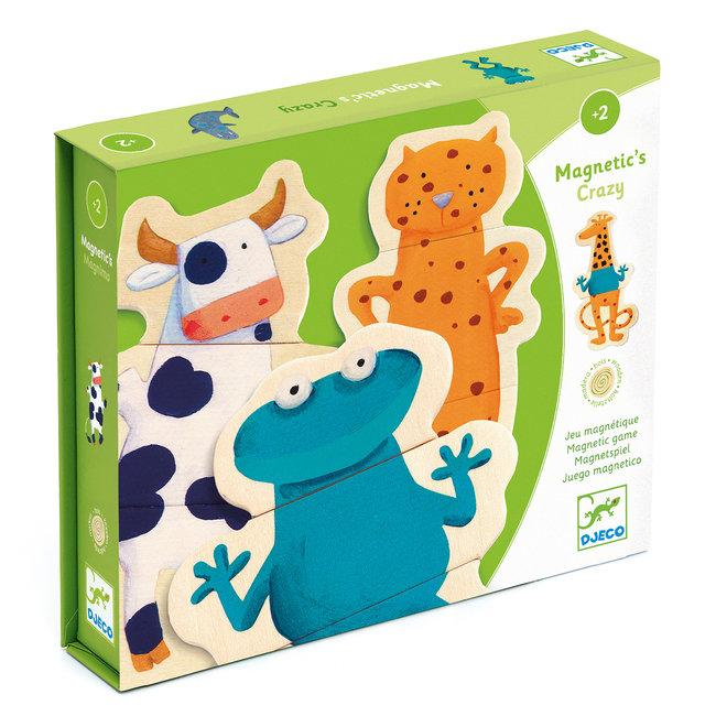 Magnetische puzzel - Gekke dieren   Djeco