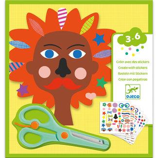 Djeco Knutselset: creëren met stickers - kapper | Djeco