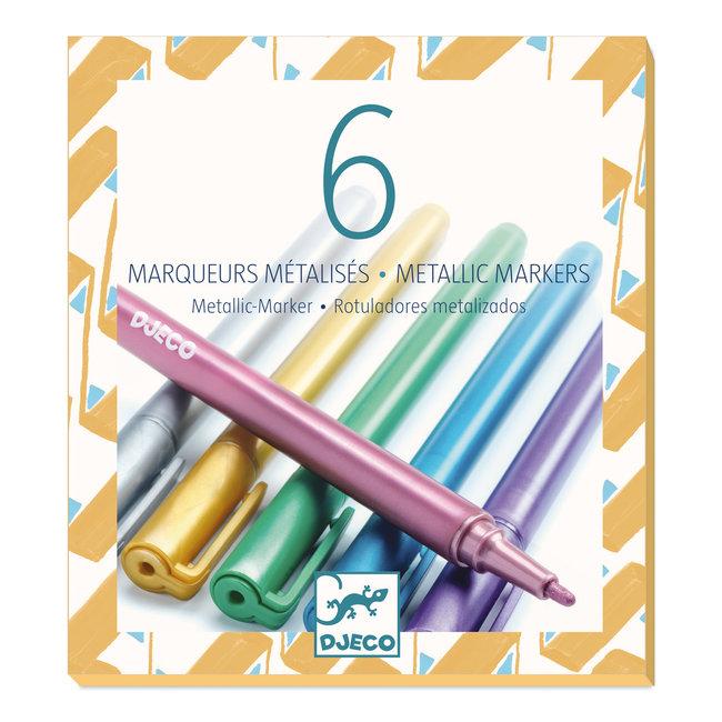 Metallic Stiften - 6 stuks | Djeco