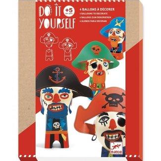 Djeco DIY Knutselset Ballon Figuren - Piraten | Djeco