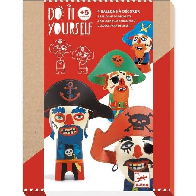 DIY Knutselset Ballon Figuren - Piraten | Djeco