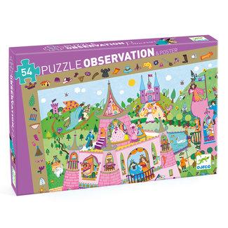 Djeco Prinses Observatiepuzzel (54st) & Poster  Djeco
