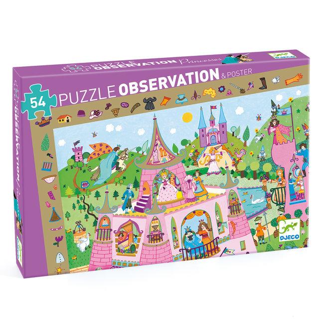 Djeco Prinses Observatiepuzzel (54st) & Poster |Djeco