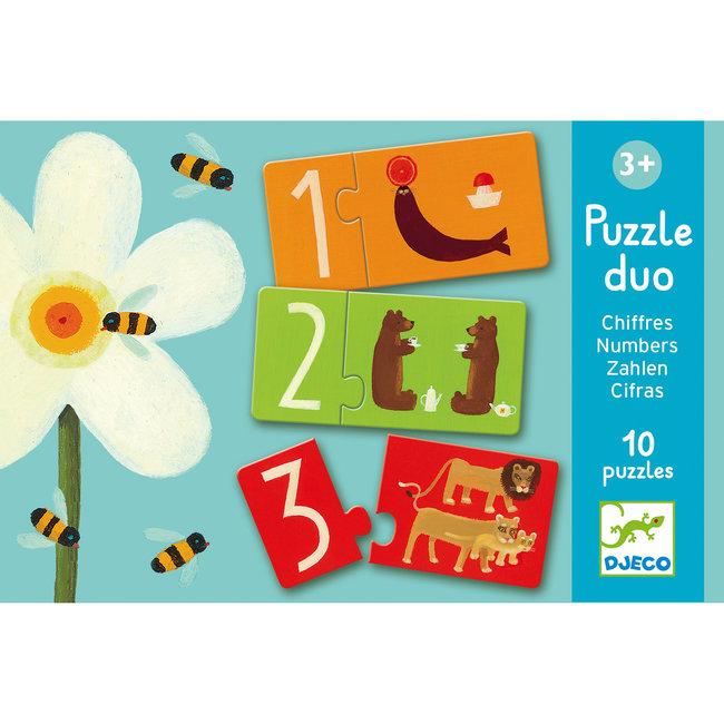 Djeco Puzzel Duo Nummers | Djeco