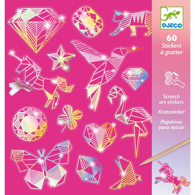 Sticker Kraskaarten - Diamanten | Djeco