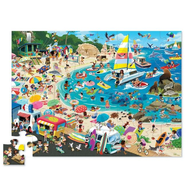 Puzzel A day at the Beach - 48 stuks