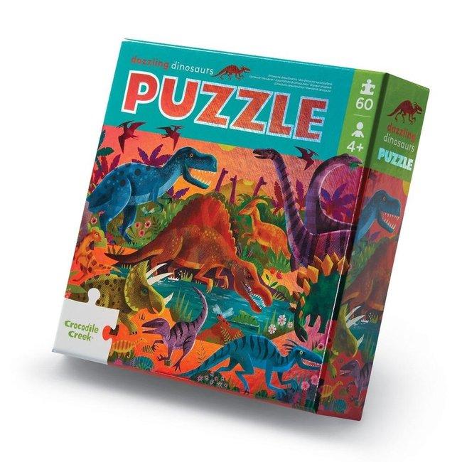 Crocodile Creek Foil puzzel Dazzeling Dinosaurs - 60 stukken