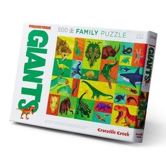 Crocodile Creek Familie puzzel 2-in-1 Prehistoric Giants - 500 stuks