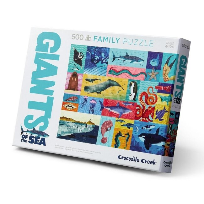 Crocodile Creek Familie puzzel 2-in-1 Giants of the Sea - 500 stuks