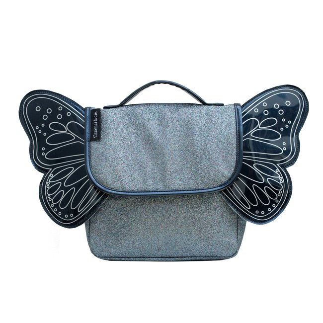 Caramel & Cie. Schooltasje Papillon Blauw
