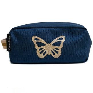 Caramel & Cie. Toilettas Vlinder Blauw
