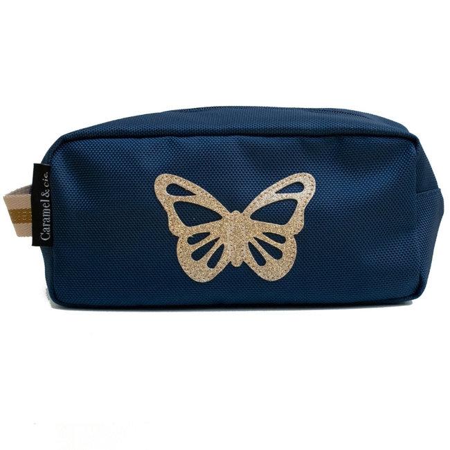 Toilettas Vlinder Blauw