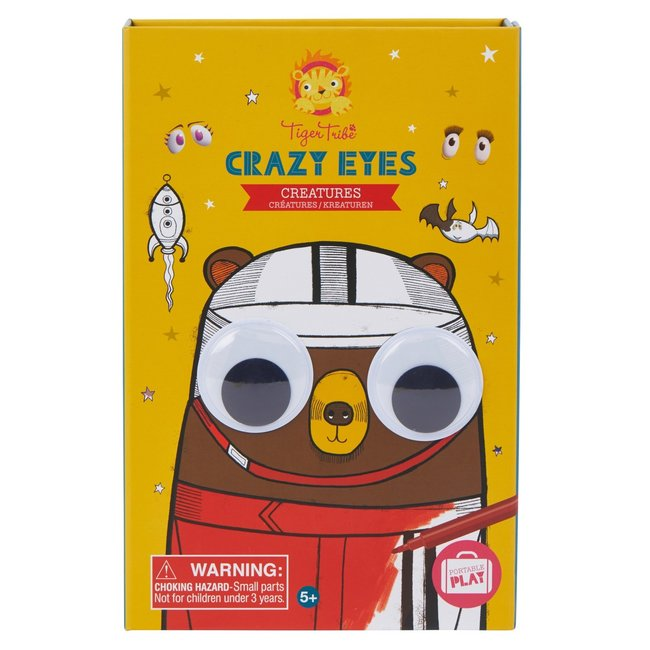 Teken en Knutselset Crazy Eyes   Tiger Tribe
