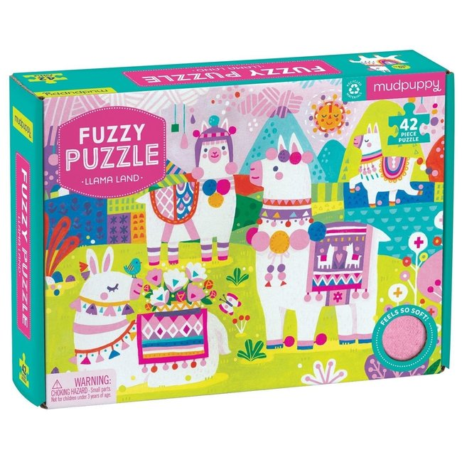 Mudpuppy Fuzzy Puzzel – Lama Land 42 stukken | Mudpuppy