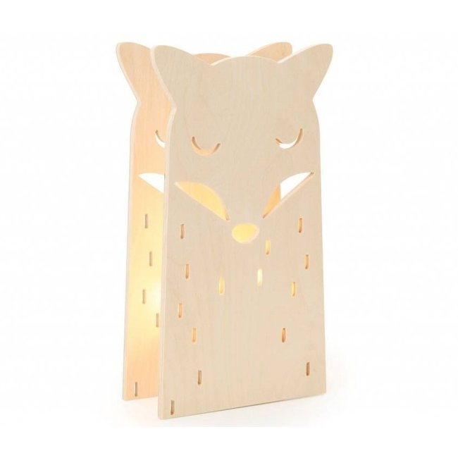 Houten Kinderlamp vosje   Miniwoo