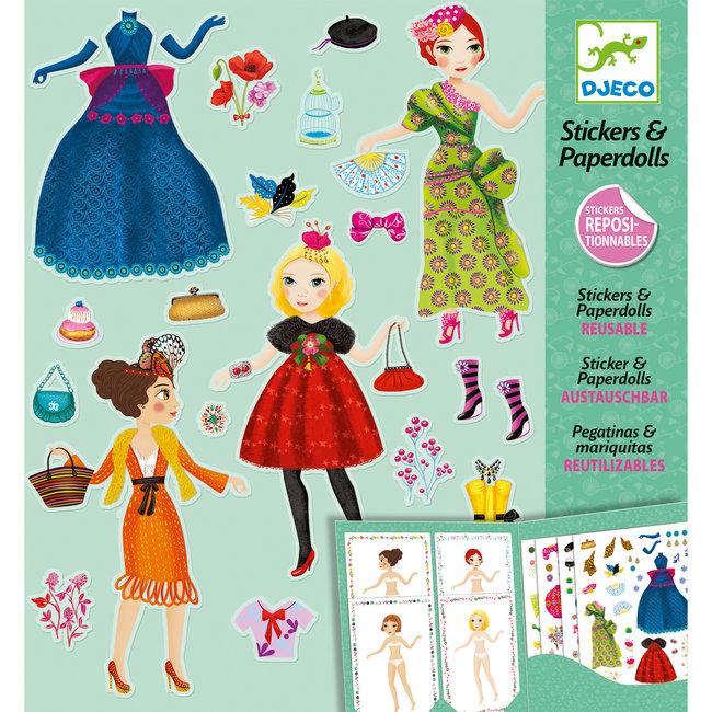 Stickerset - Aankleden Modellen | Djeco