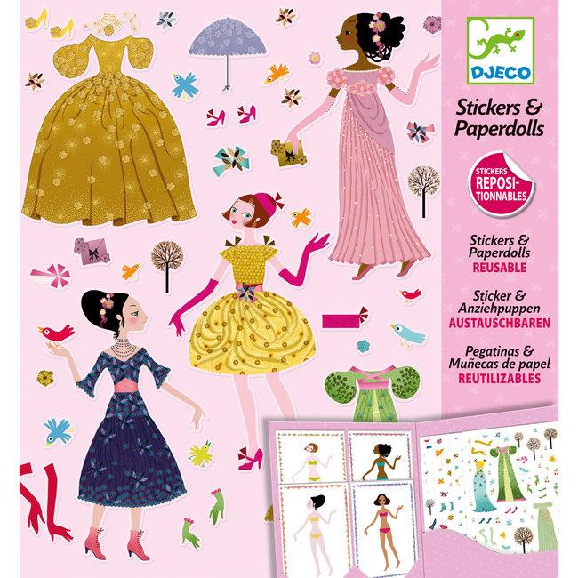 Stickerset - Aankleden met jurken   Djeco