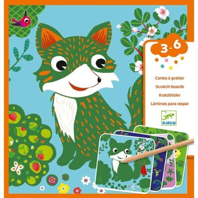 Djeco Kraskaarten - Kleine dieren | Djeco
