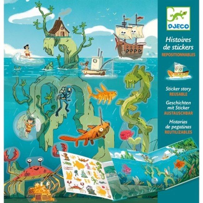 Djeco Stickerboek - Avonturen op Zee | Djeco