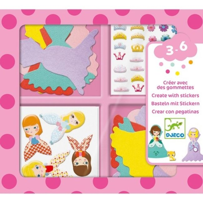Djeco Sticker knutselset - Princessen  | Djeco