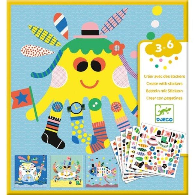 Djeco Sticker knutselset - Zeedieren | Djeco