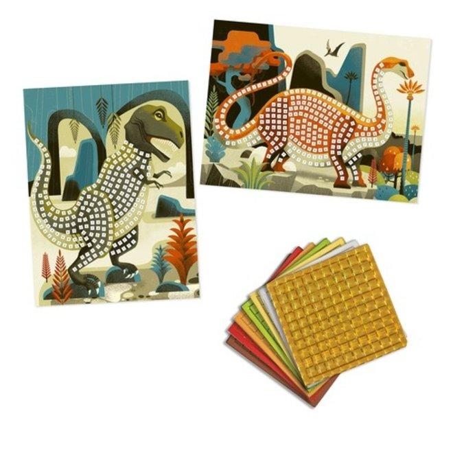 Mozaïekset Dinosaurussen - Art by Numbers | Djeco