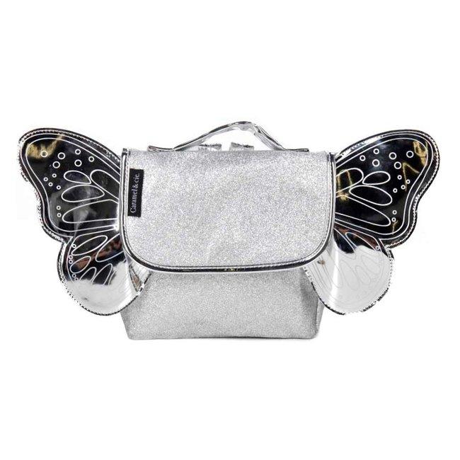 Caramel & Cie. Schooltasje Papillon Zilver