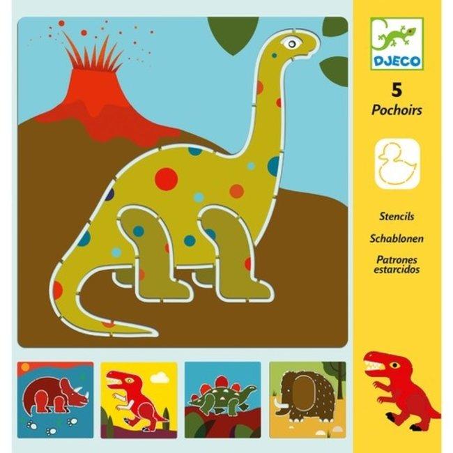 Tekensjablonen Dinosaurussen | Djeco
