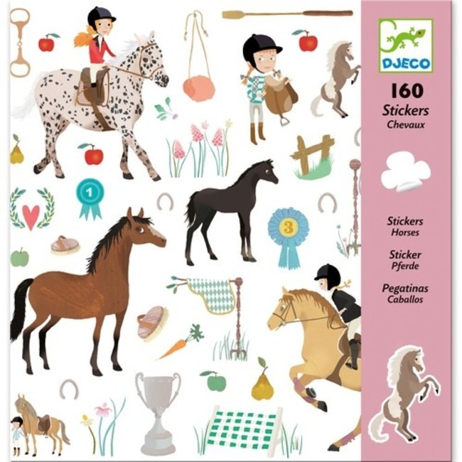 Djeco Stickerset Paarden (160st) | Djeco