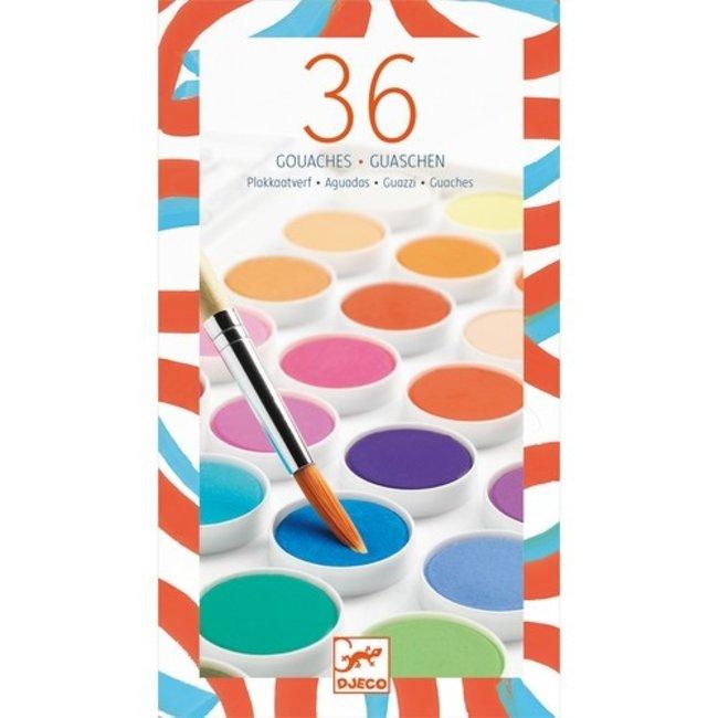 Djeco Verfdoos met 36 waterverf kleuren | Djeco