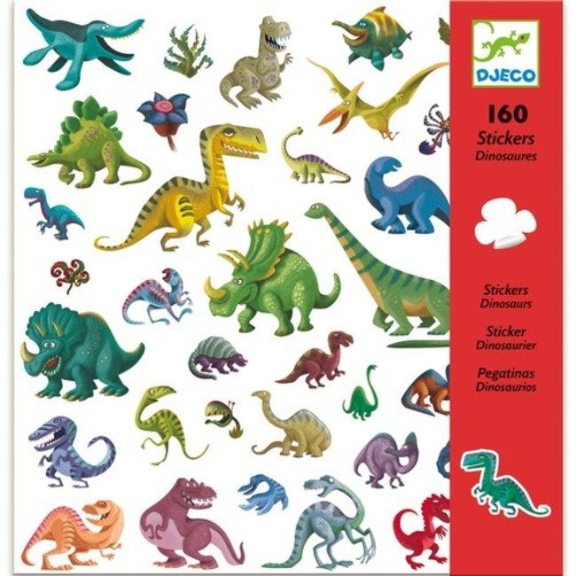 Stickerset Dino's (160st)   Djeco