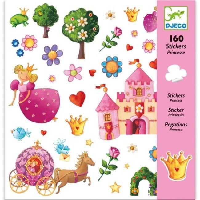 Djeco Stickerset Prinsessen (160st) | Djeco