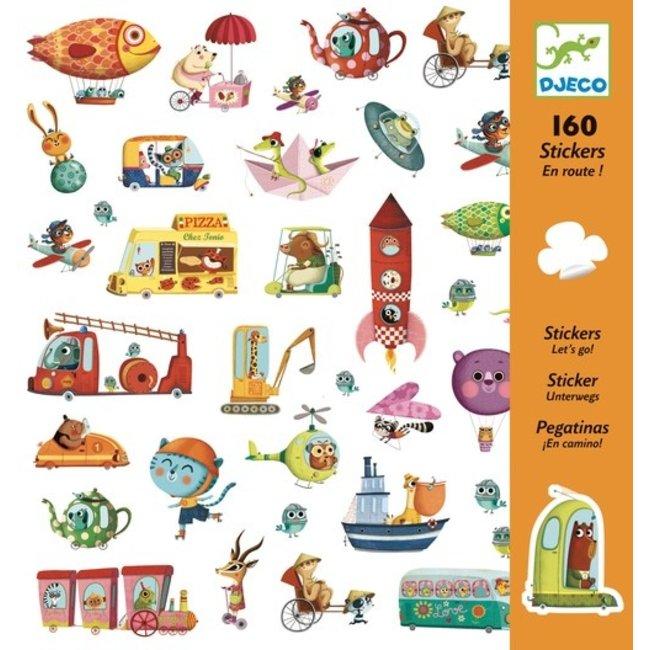 Stickerset Onderweg (160st)   Djeco
