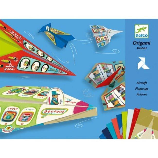 Eenvoudige Origami - Vliegtuigen   Djeco