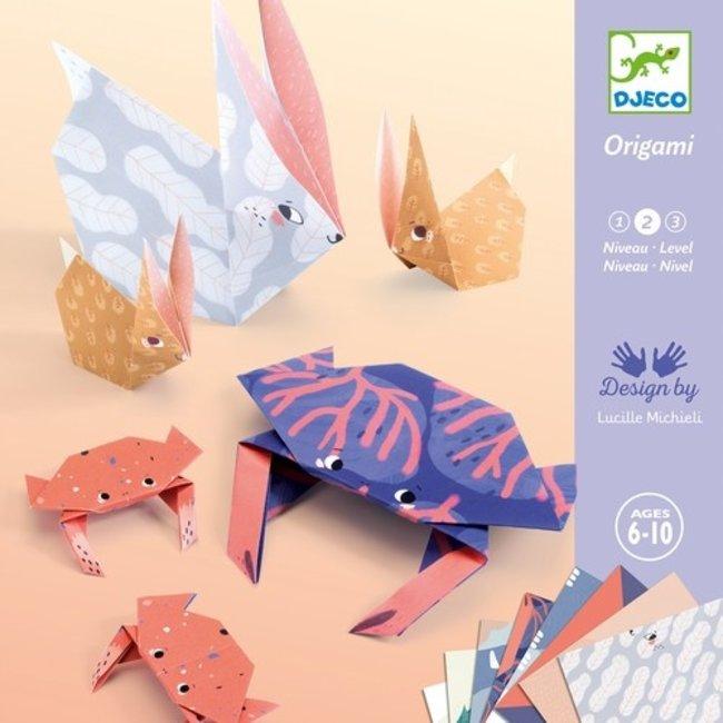 Eenvoudige Origami - Dierenfamilie | Djeco