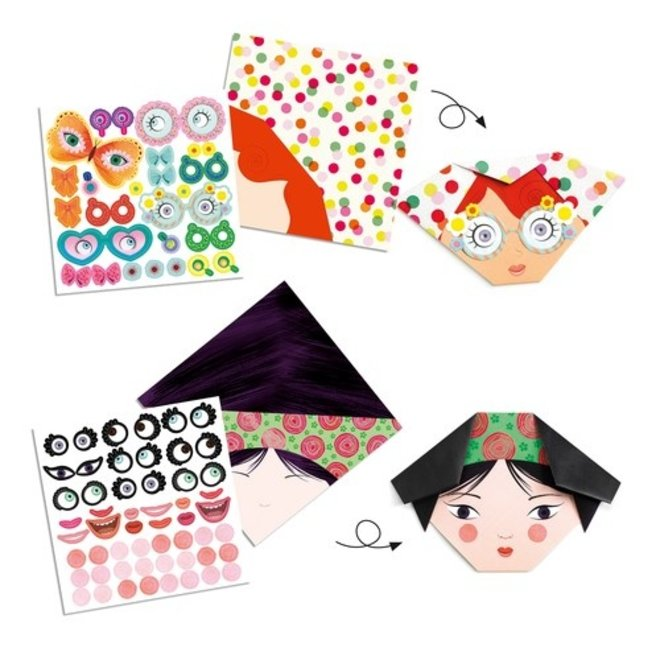 Eenvoudige Origami - Grappige Gezichten | Djeco