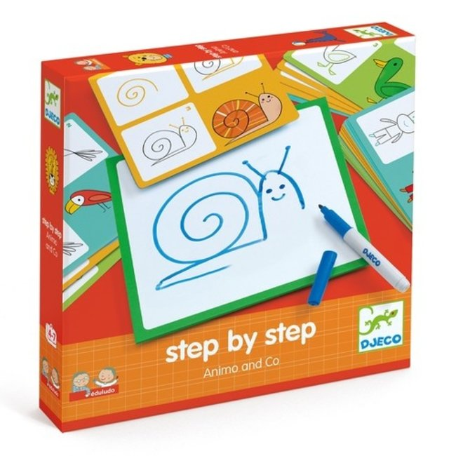 Step by Step tekenset Animals & Co   Djeco