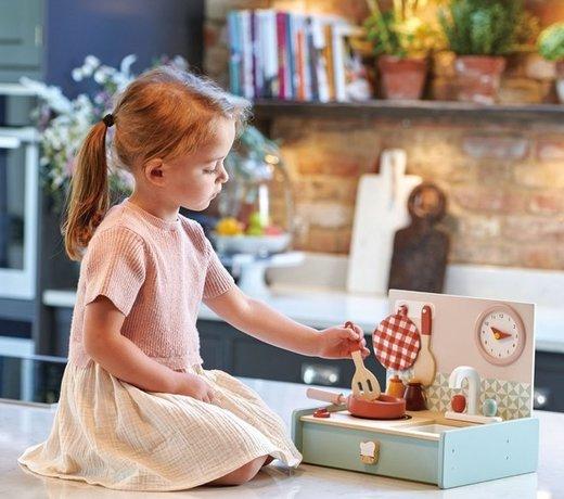 Houten imitatiespeelgoed, perfect voor rollenspel bij kinderen