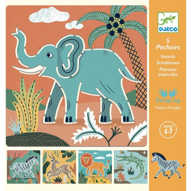 Tekensjablonen - Wilde dieren