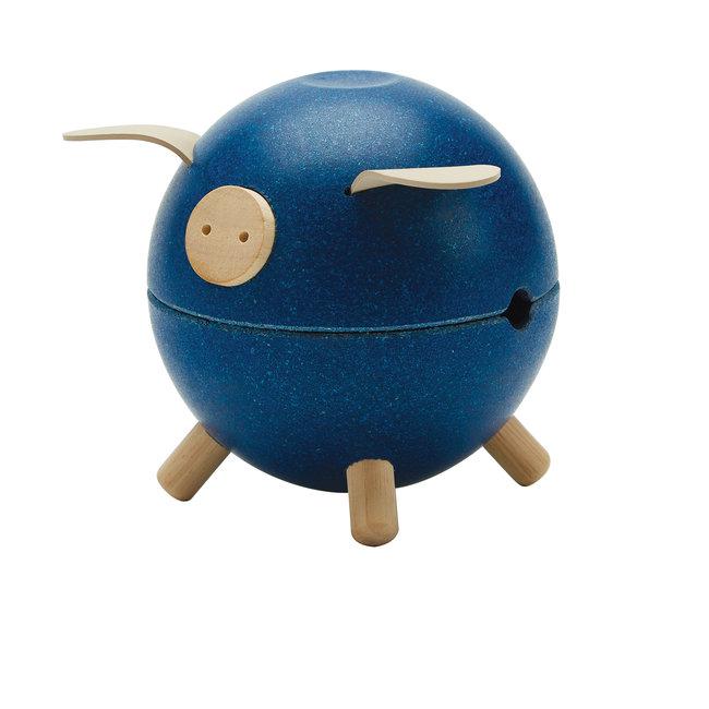 Plan Toys Spaarvarken - Blauw
