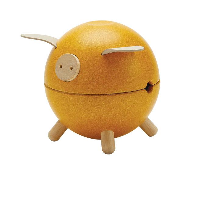 Plan Toys Spaarvarken - Geel