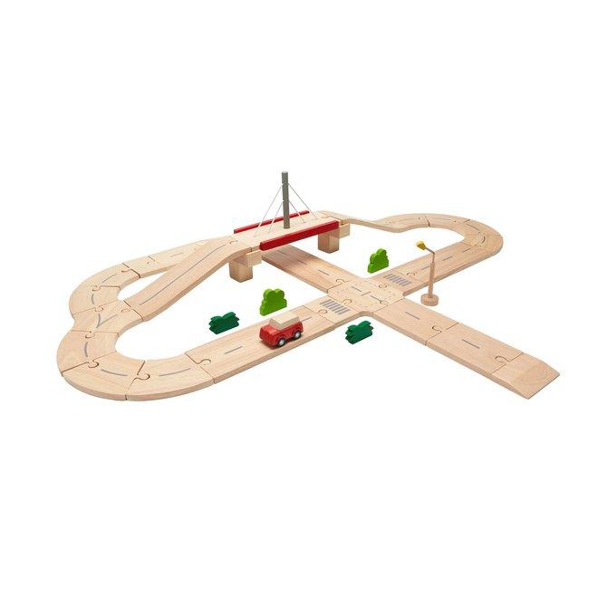 Plan Toys Autoweg - Road System