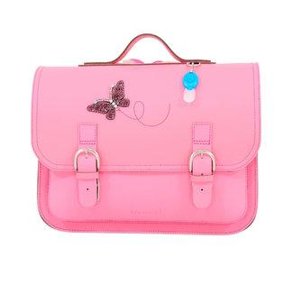 Own Stuff Own Stuff Lederen Boekentas Classic Pink Butterfly