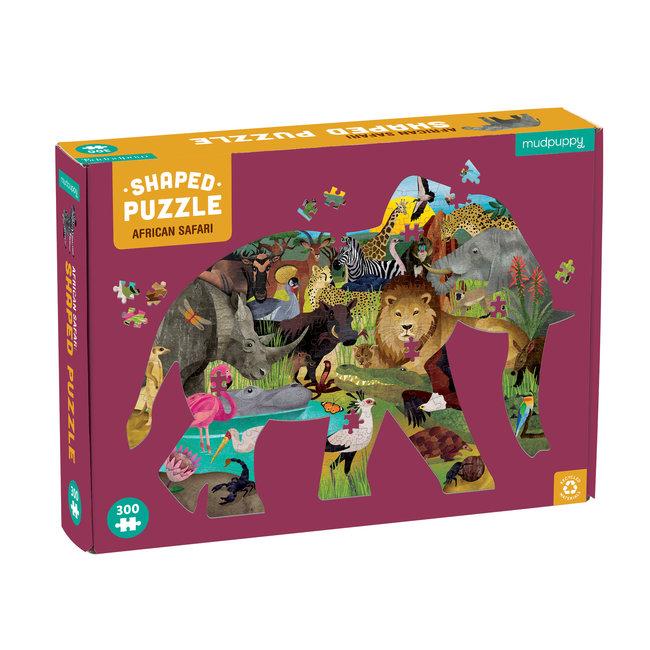 Mudpuppy Shaped Puzzel African Safari – 300st