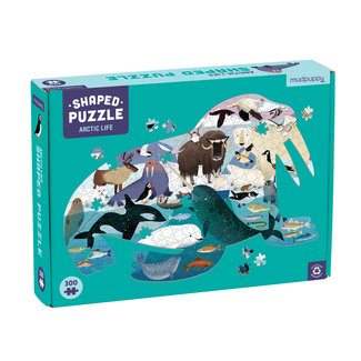 Mudpuppy Mudpuppy Shaped Puzzel Artic Life – 300st