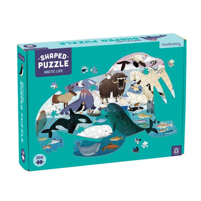 Mudpuppy Shaped Puzzel Artic Life – 300st