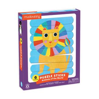 Mudpuppy Mudpuppy Puzzel Sticks - Animals of the World