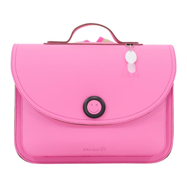 Own Stuff Lederen Boekentas Pink | Own Stuff