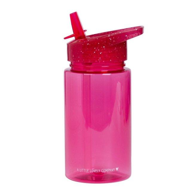 A Little Lovely Company Drinkfles Glitter - Roze | A little lovely company